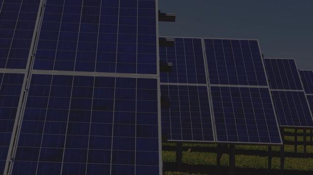 Solar panel array providing clean energy solutions.