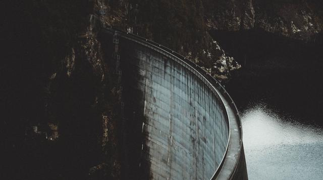 A photo of a dam.